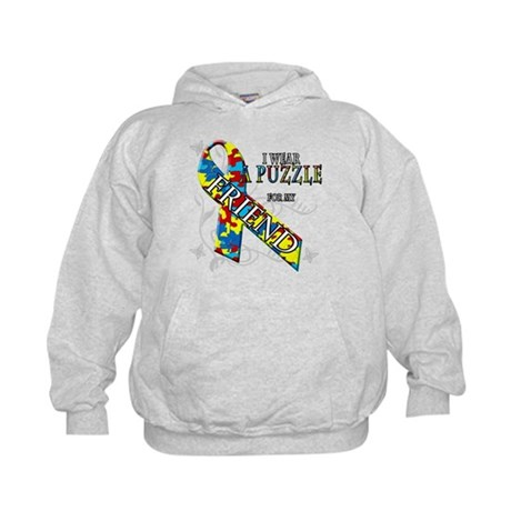 I Wear A Puzzle for my Friend Kids Hoodie