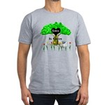 Love Is Green Men's Fitted T-Shirt (dark)