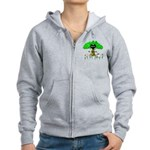 Love Is Green Women's Zip Hoodie