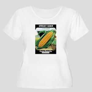 Vintage Sweet Corn Women's Plus Size Scoop Neck T-