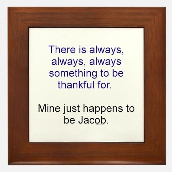 Thankful Jacob Framed Tile