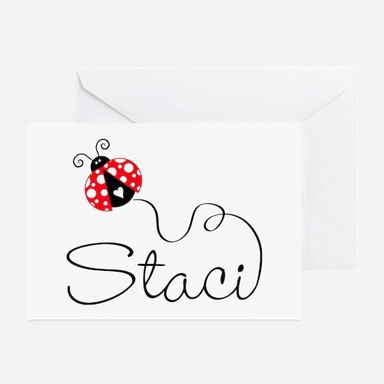 Ladybug Staci Greeting Cards (Pk of 20)