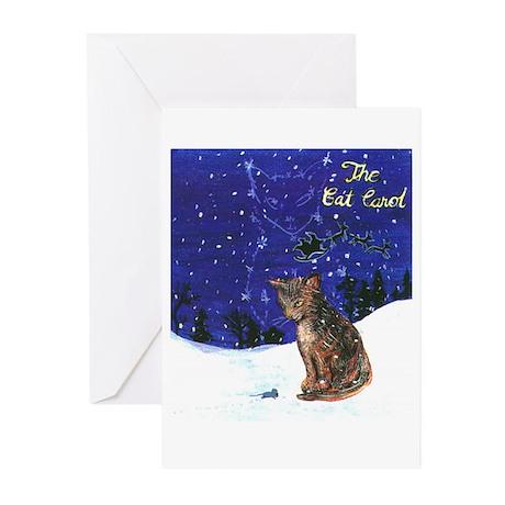 Cat Carol Greeting Cards (Pk of 10)