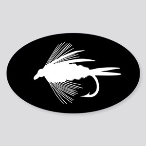 WHITE FLY Oval Sticker