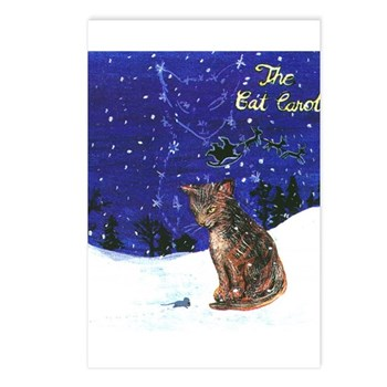 Cat Carol Postcards (Package of 8)