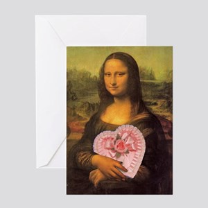 Mona Lisa's Secret Greeting Card