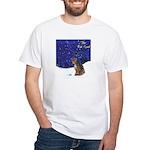 Cat Carol White T-Shirt