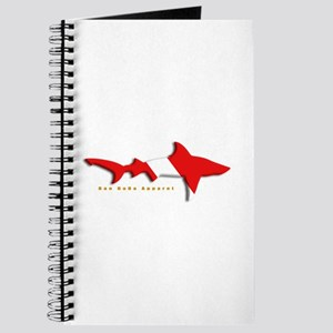 Shark Diving Flag Journal