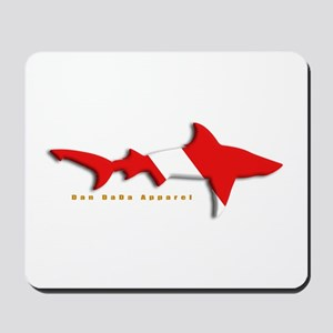 Shark Diving Flag Mousepad