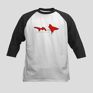 Shark Diving Flag Kids Baseball Jersey