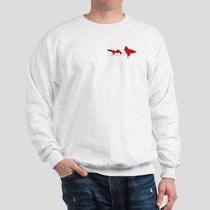 Shark Diving Flag Sweatshirt