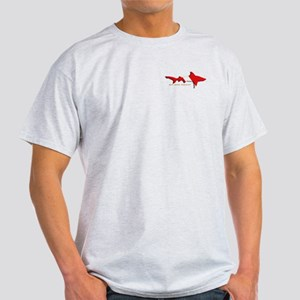 Shark Diving Flag Light T-Shirt