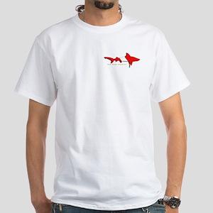 Shark Diving Flag White T-Shirt