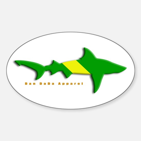 Shark Nitrox Diving Flag Oval Decal