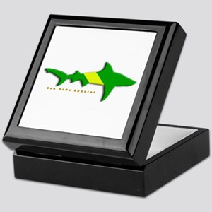 Shark Nitrox Diving Flag Keepsake Box