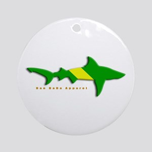 Shark Nitrox Diving Flag Ornament (Round)