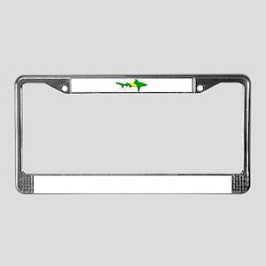 Shark Nitrox Diving Flag License Plate Frame