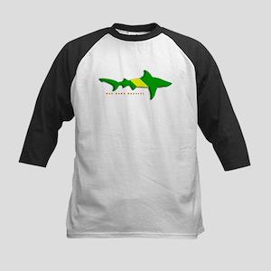 Shark Nitrox Diving Flag Kids Baseball Jersey