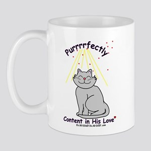 Purrrfectly content Mug