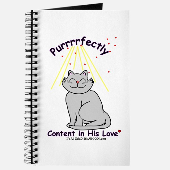 Purrrfectly content Journal