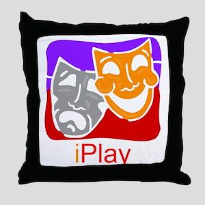 iPlay drama Throw Pillow