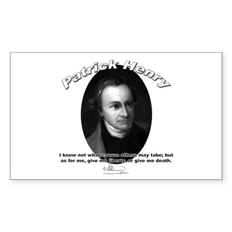 Patrick Henry 02 Rectangle Sticker