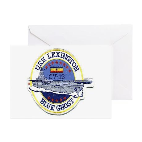 USS Lexington CV 16 Greeting Cards (Pk of 10)