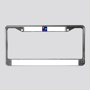 Get In Shape! Dark License Plate Frame