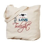 Peace Love Twilight Grunge Tote Bag