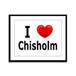 I Love Chisholm Framed Panel Print