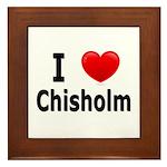 I Love Chisholm Framed Tile