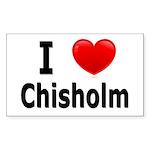 I Love Chisholm Rectangle Sticker