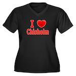I Love Chisholm Women's Plus Size V-Neck Dark T-Sh