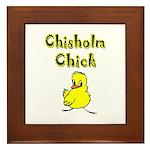 Chisholm Chick Framed Tile