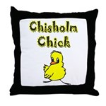 Chisholm Chick Throw Pillow