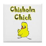 Chisholm Chick Tile Coaster