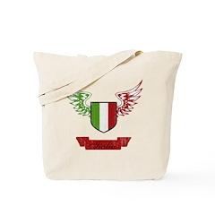 Vintage Italia Flag Wings Tote Bag