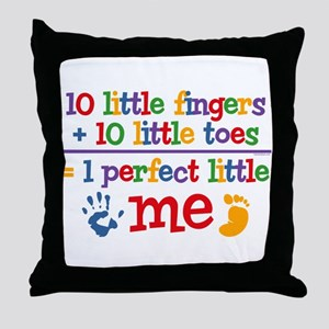 Fingers and Toes Throw Pillow