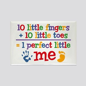 Fingers and Toes Rectangle Magnet
