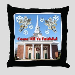 Come All Ye Faithful Throw Pillow