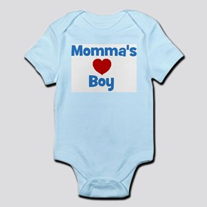 Momma's Boy - Red Heart Infant Creeper