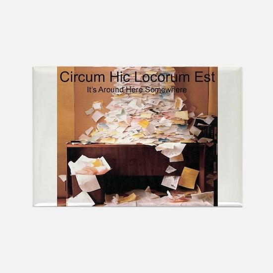Circum Hic Rectangle Magnet