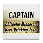 Chisholm Beer Drinking Team Tile Coaster