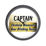 Chisholm Beer Drinking Team Wall Clock