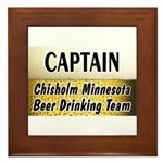 Chisholm Beer Drinking Team Framed Tile