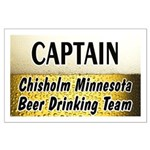Chisholm Beer Drinking Team Large Poster