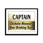 Chisholm Beer Drinking Team Framed Panel Print