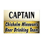 Chisholm Beer Drinking Team Mini Poster Print