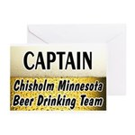 Chisholm Beer Drinking Team Greeting Cards (Pk of