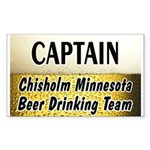 Chisholm Beer Drinking Team Rectangle Sticker